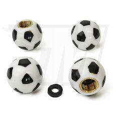 4x Tapón De La Válvula AUS plástico para Neumáticos coche, Fútbol en blanco