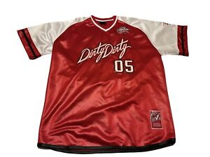Fubu Jersey Men 2XL City Series Collection Dirty South 05 Red / White 1992