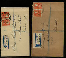 New  Zealand  2  registered covers   Te  Aro           MS0709