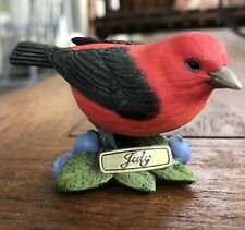 Danbury Mint Bird Figurine Scarlet Tanager Month Of July