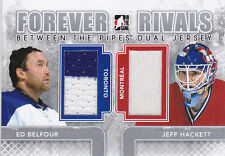 12-13 ITG Ed Belfour Jeff Hackett Jersey Forever Rivals Between The Pipes 2012