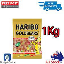 Brand New 1Kg Haribo Goldbears Gummy Bears Australian Stock Free Fast Shipping