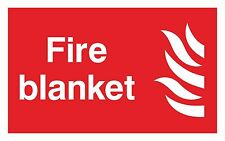 1x FIRE BLANKET Warning Sticker Decal for Door Locker Box Home Safety Work Store