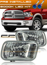 2009-2012 Dodge Ram 1500 Clear Lens Replacement Fog Light Housing Assembly + LED
