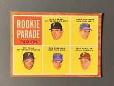 New Listing1962 Topps #593 Rookie Pitchers Bob Veale High Number Sp Ex