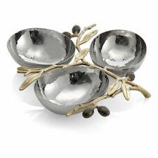 Michael Aram Olive Branch Gold Triple Compartment Dish 175126