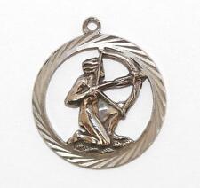 New listing Vintage Sagittarius Zodiac Symbol Sterling Silver Bracelet Charm / 3d Detail