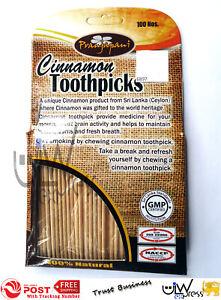 1 X 100 Ceylon Cinnamon Toothpicks   Natural Cinnamon Toothpicks