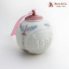 Lladro Porcelain Christmas Ball Ornament 1992 Hand Made Spain