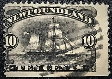 NEWFOUNDLAND 1887 Sc#59 Selling Ship Used LH remnant F/VF (E-162)