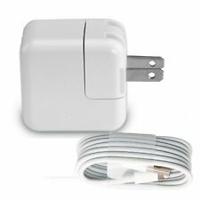 12W Power Adapter Wall Charger US Plug for Apple iPad 2 3 Air 1 2 iPhone & Cord