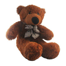 75 CM big bear stuffed toy soft toy plush bear scarf flower brown teddy bear
