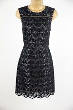 Oasis Nottingham Trent Black Velvet Lace Pencil Dress UK Size 10