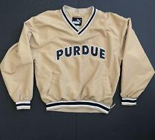 Vintage Puma Purdue Boilermakers Lined Pull Over Windbreaker Men M Embroidered
