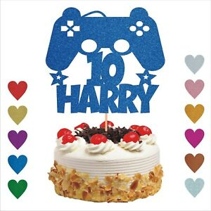 Personalised Cake Topper Party Gamer Controller Gaming Console Birthday Floss