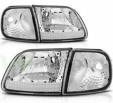 Fits 1997 2003 Ford F 150 Headlights Assembly Replacement Headlamps Left Right Fits 1997 Ford F 150