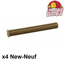 Lego Technic- 4x Axe Axle 5 with Stop beige foncé/dark tan 15462 NEUF