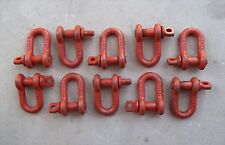 """LOT of 10 ~ Midland 2 Ton 1/2"""" Clevis Shackle w/ Screw Pin ~ FREE SHIPPING"""