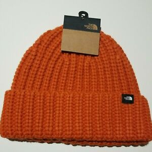 The North Face Chunky Knit Watchman Beanie. Burnt Ochre (Orange).