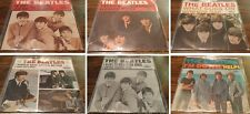 WOW! LOT OF 6 ORIGINAL BEATLES 45'S with PICTURE SLEEVES