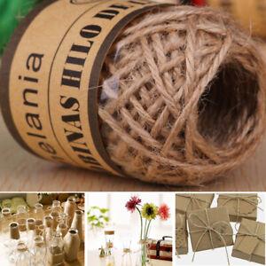 DIY Crafts Party Supplies Natural Gardening Brown Jute Twine Handmade Hemp Rope