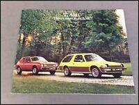 1977 AMC Gremlin Pacer Matador Hornet AMX 36-page Car Sales Brochure Catalog