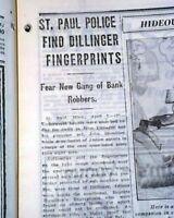 BONNIE AND CLYDE Texas Patrolmen Murders & John Dillinger Hunted 1934 Newspaper
