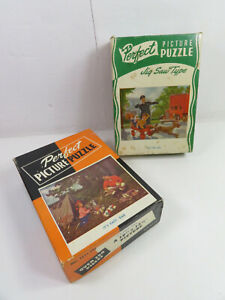 Lot of 2 Vintage 1940s PERFECT PICTURE PUZZLE  over 250 pieces