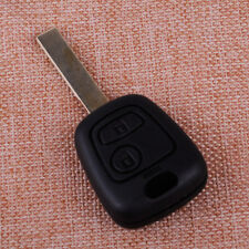 2 Buttons Remote Key Case Shell Fob No Groove Blade Replacement Fit PEUGEOT 307