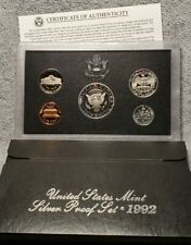 1992 US Mint Silver Proof Set - Original Box and COA