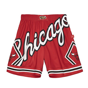 Men's Mitchell & Ness Red NBA Chicago Bulls Big Face 2.0 Blownout Shorts