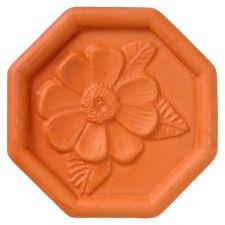 JBK Pottery Terra Cotta Brown Sugar Saver, Daisy Design
