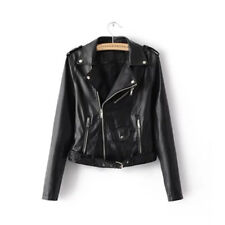 Fashion Women Autumn Winter PU Leather Biker Jacket Coat Punk Motorcycle Jacket