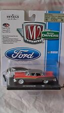 M2 MACHINES 1/64 AUTO DRIVERS R39 1957 FORD FAIRLANE 500 GRAY RED NEW MINT