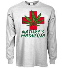 Long sleeve t-shirt Medical Marijuana design tee men's clothing