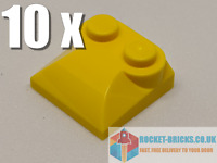 ⭐️10 x BRAND NEW LEGO 47457 MODIFIED 2 x 2 x 2/3 TWO STUDS - YELLOW - 4218699⭐️