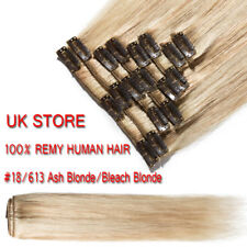 AAA+ CLEARANCE Clip in Human Hair Extensions Full Head 100% Real Remy Hair UK LX