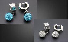 Markenloser Mode-Ohrschmuck im Shamballa-Stil aus Edelstahl