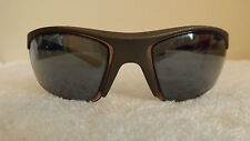 REEBOK SPORTS SUNGLASSES BRONZE WITH ORANGE & BLUE FLASH 100% UVA/UVB PROTECTION