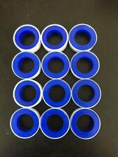 12pcs 0.75mmx10m Teflon Tape White Thread PTFE plumbing Plumber Sealing Water