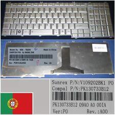 Clavier Qwerty Portugais Toshiba Satellite L500 L500D L505 L505D NSK-TBZ06 Gris