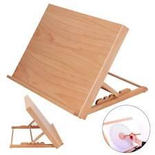 More details for adjustable wooden art drawing board table desk canvas sketch easel 30-60° uk
