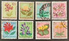 Ruanda-Urundi. Flowers Definitive Stamps Part Set. SG175+. 1953. USED. (X13)