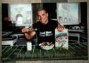 "1986 Howie Long ""Hey Howie he likes it"" Costacos Brothers Vintage Poster ex cond"