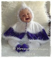 """Honeydropdesigns """"CANDY CAPERS"""" Reborn/Baby PAPER KNITTING PATTERN 0-3 Months"""
