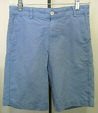 Vineyard Vines Flat Front Boys Blue 100% Cotton Shorts Size 12