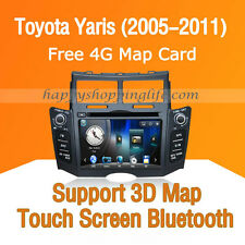 Car Stereo DVD Player GPS Navigation Bluetooth Radio for Toyota Yaris 2005-2011