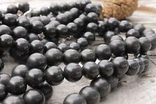 Shungite stone beads 8mm - 30pcs