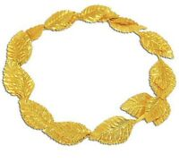 Fancy Dress Roman Julius Caesar Laurel Gold Leaf Crown Headdress