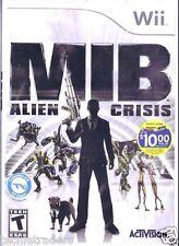 MIB Men in Black: Alien Crisis (Nintendo Wii, 2012)   Factory Sealed Cellophane